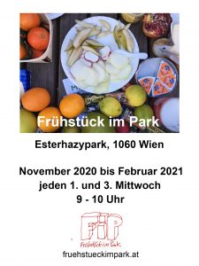 Poster Frühstück im Park